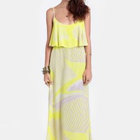 Venezuela Bound Printed Maxi Dress