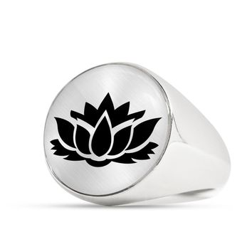 Lotus Flower - Luxury Signet Ring