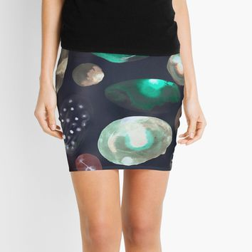 'space rocks' Mini Skirt by Marianna Tankelevich