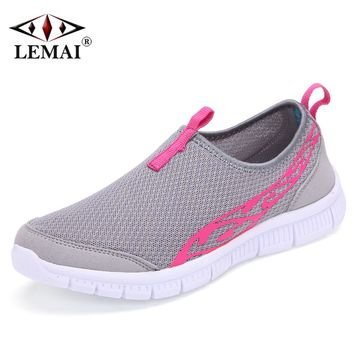 LEMAI Comfortable Women Athletic Shoes Summer Spring Breathable Air Mesh Sneakers Super Light Factory Outlet Stores Big Sale 009