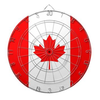 Dartboard with Flag of Canada