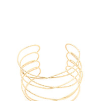 I Love Loopy Twisted Wire Cuff