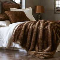 Mink Ombre Faux Fur Blanket & Shams