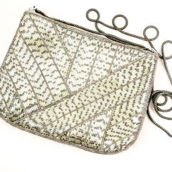 Vintage Clutch  - Regency Ltd  - Bead Purse  - Circa 1950's - Gift for her  - Mom Gift - Bridal gift  - Evening clutch