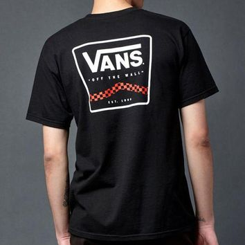 DCCKYB5 Vans Freestyle Sidestripe Checkerboard T-Shirt