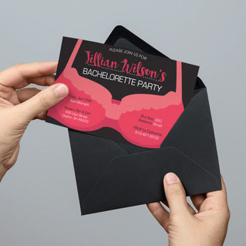 Bachelorette Party Invitation | Lingerie Party | Instant Download Invitations | Wedding Party