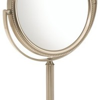 Jerdon JP910NB 6-Inch Vanity Mirror with 10x Magnification, Nickel Finish
