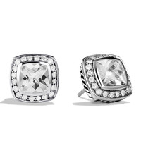 Petite Albion Earrings with White Topaz and Diamonds - David Yurman