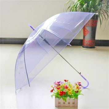 1 PC Portable New Fashion Transparent Clear Rain Umbrella Parasol PVC Dome for Wedding Party Favor  VBX93 T47