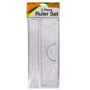 Alphabet & Number Stencil Ruler Set - 24 Units