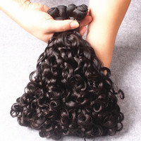 1 Pc  Black 7A Virgin Natural Curly Funmi Brazilian Hair Weave