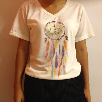 Dreamcatcher women t-shirt - V Neck T shirt