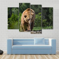 Bear Moving In The Forest Canvas