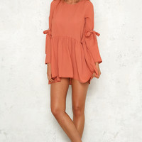 Free Falling Dress Coral