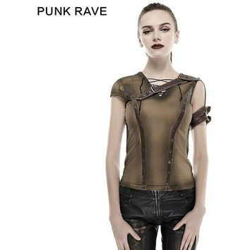 NEW PUNK ROCK STEAM PUNK T SHIRT SUMMER COTTON BRAND QUALITY VISUAL KEI TOP FASHION CYBER BLUSA VINTAGE HARAJUKU STYLE