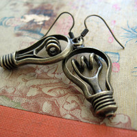 Lightbulb Earrings by sodalex on Etsy