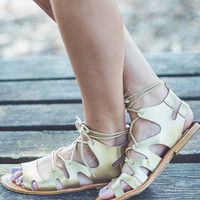 Mythos Gladiator Sandals in Gold