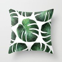 MONSTERA TROPIC Throw Pillow by NORDIK