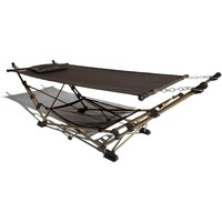 Strathwood Basics Portable Folding Hammock with Carry Bag, Chocolate with Champagne Frame