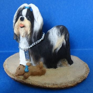 Shih Tzu Black & White My Dog Figurine