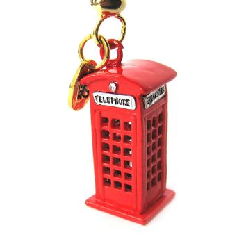 London Red Telephone Box Pendant Necklace | Limited Edition Jewelry