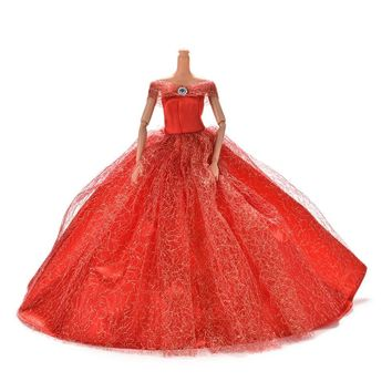 7 Colors Dolls Accessories Dress Handmake wedding princess Dress Elegant Clothing Gown For Barbie doll