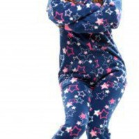 Stars - Drop Seat Hoodie - Pajamas Footie PJs Onesuit One Piece Adult Pajamas - JumpinJammerz.com