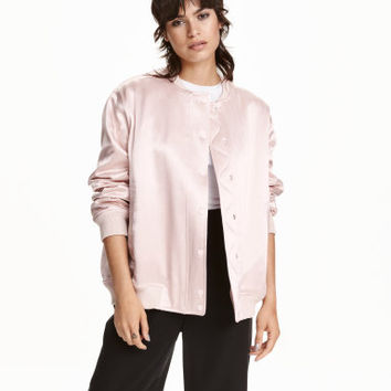 H&M Satin Pilot Jacket $69.99