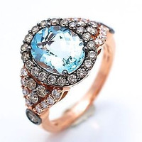 AMAZING 7.15CT AQUAMARINE OVAL 925 STERLING SILVER ENGAGEMENT AND WEDDING RING