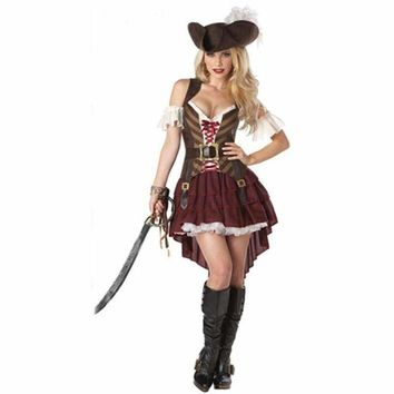 Sexy Pirate Carnival Halloween Costumes For Women