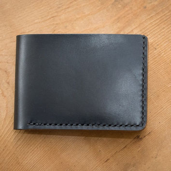 Black Cherry Traditional Leather Wallet