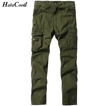 High Quality Mens Fashion Military Cargo Pants Multi-pockets Baggy Men Cotton Pants Casual Trousers Overalls Army Pants Joggers