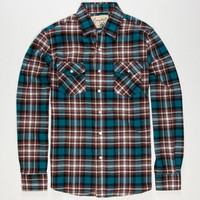 Coastal Glory Mens Flannel Shirt Teal Blue  In Sizes