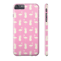Flamingo & Pineapple Phone Case - Pink and Cream