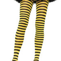 Tights Striped Yellow Black Ua900yb