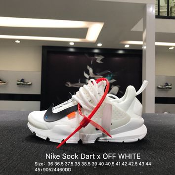 Virgil Abloh Off-White x Nike La Nike Sock Dart OW White Black 819686-058