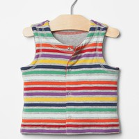 Gap Multi Stripe Reversible Vest