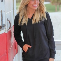 Black Hoodie with Pocket