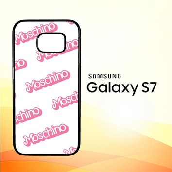 moschino pattern Z5297 Samsung Galaxy S7 Case