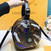 Louis Vuitton LV Fashion New leather shopping leisure round  shoulder bag crossbody bag handbag