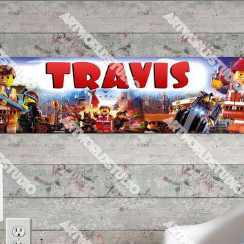 Personalized/Customized Lego Movie #2 Poster, Border Mat and Frame Options Banner 171-2