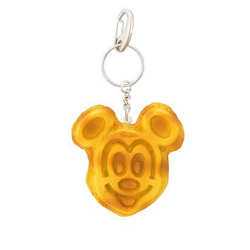 Disney Parks Mickey Mouse Waffle Keychain New with Tags