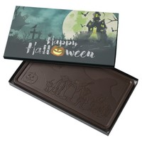 Spooky Haunted House Costume Night Sky Halloween Dark Chocolate Bar