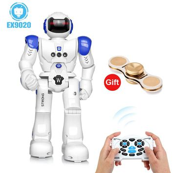 DODOELEPHANT Robot USB Charging Dancing Gesture Action Figure Control RC Robot Toy for Boys Children Kids Birthday Gift Present