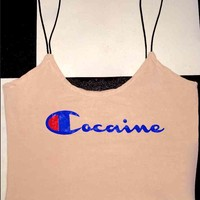 SWEET LORD O'MIGHTY! COCAINE SKINNY TANK IN NUDE