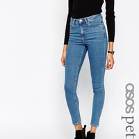 ASOS PETITE Ridley Skinny Jeans in Lily Pretty Mid Stonewash