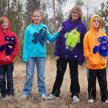 furry monster hoodies sweatshirts