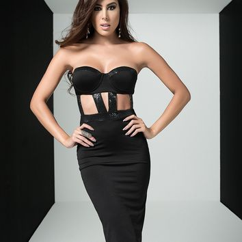 Strapless Sheath Midi