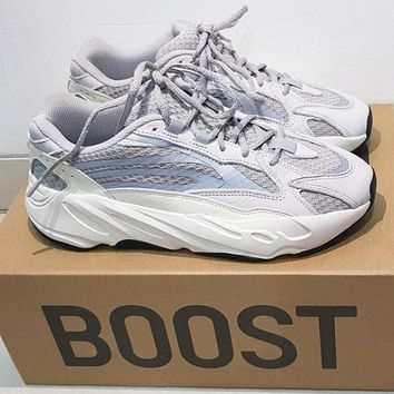 Adidas Yeezy 700 Runner Boost Fashionable Women Men Sport Running Shoes Sneakers Grey(Reflective)