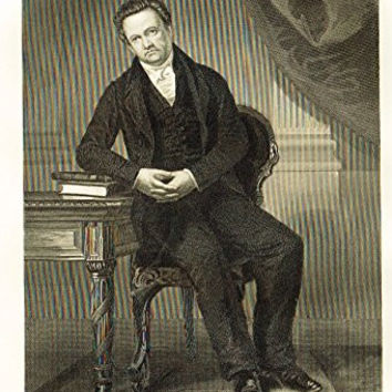 "Chappel's National Portrait Gallery - ""Dewitt Clinton"" - Steel Engraving"" - 1864"